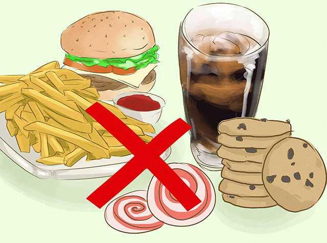 Нежелательная пища, список продуктов, которые следует избегать