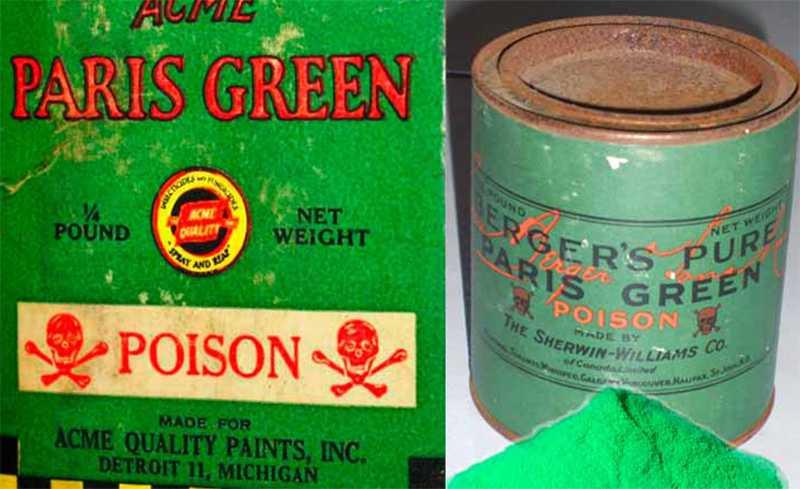 Ядовитые краски - самые смертоносные цвета в истории