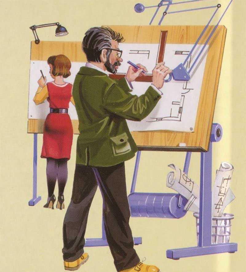 профессия в картинках инженер конструктор может