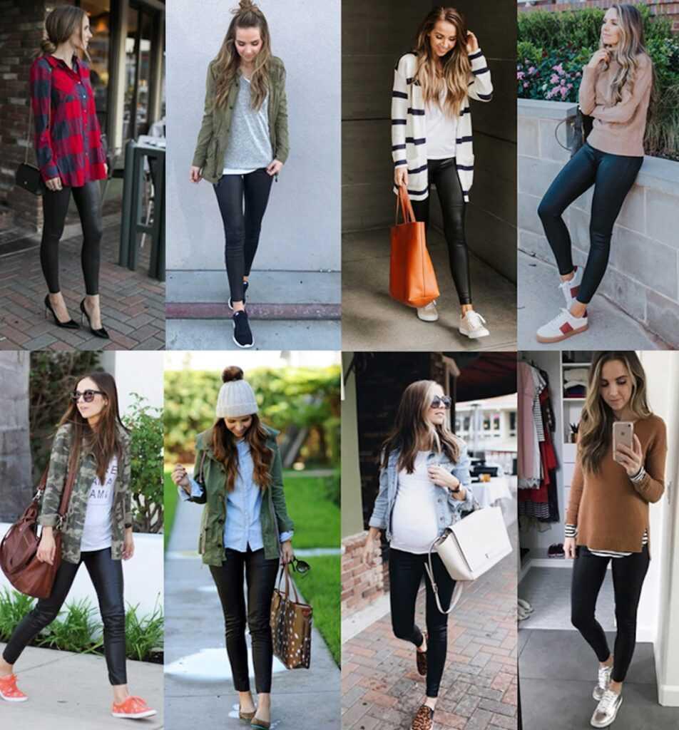 Леггинсы отлично сочетаются с разными вариантами одежды