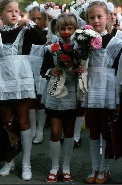 Советские школьницы, несколько ностальгических фотографий