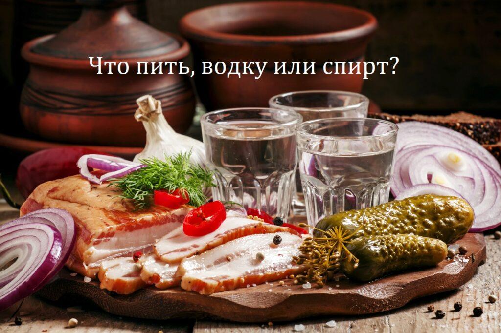 Что пить водку или спирт