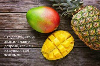 Что делать чтобы ананас и манго дозрели, если вы их купили ещё зелеными