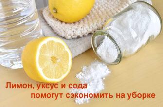 Лимон уксус и сода помогут сэкономить на уборке